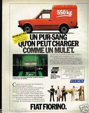 Publicité advertising 1981 Camionette fourgon utilitaire Fiat Fiorino