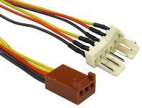 Computer PC Case fan extension  3 PIN FAN POWER Y SPLITTER  Cable Lead 15cm 3Pin