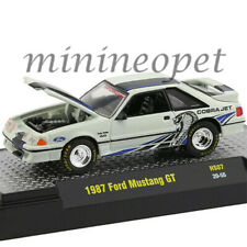 M2 Hs07 Detroit Muscle 1987 Ford Mustang Gt 50 Twin Turbo Fox Body 164 White