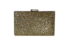 Sereena Romani Golden Arya Brillo Noche Clutch Bag
