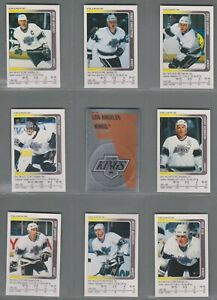 1991-92 Panini Stickers Los Angeles Kings Complete Team Set (18) 2 Gretzky