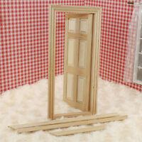 1/12 Puppenhaus Miniatur Möbel Holz Tür 6-Panel Innentür DIY Puppenhaus Y3B1