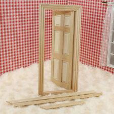 1/12 Puppenhaus Miniatur Möbel Holz Tür 6-Panel Innentür DIY  2 hhdd