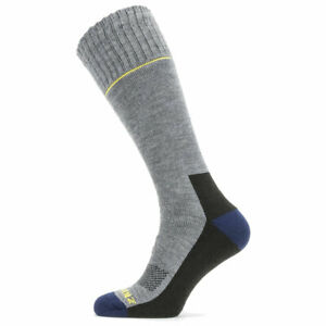 SealSkinz Solo QuickDry Knee Length Socks - Grey / Black / Yellow