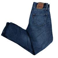 LEVIS 511 Mens Slim Skinny Dark Blue Jeans W29 L30 (O128)