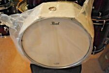 NEW STILL IN THE PLASTIC PEARL DECADE MAPLE SNARE DRUM GLOSS DEEP RED BURST