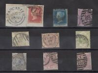 GB QV Collection of 9 To 1/- All Different X9989