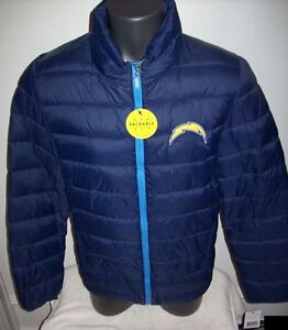 SAN DIEGO CHARGERS Puffer Pack It Jacket with Tote Bag S M LG XL 2X BLUE