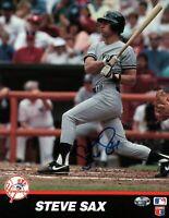 Steve Sax Signed 8X10 Photo Autograph New York Yankees Team Card Auto w/COA