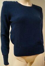 SONIA RYKIEL bleu polaire laine & angora Scoop Neck Jumper Sweater Top FR40 UK12