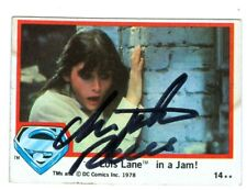 CHRISTOPHER REEVE: Superman. Clark Kent. Hand-signed official trading card. COA.