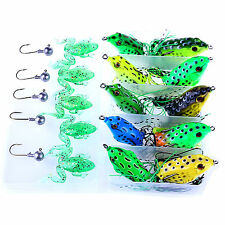 Pro 20pcs With Box Frog Fishing Lures Soft Plastic Bait Bass Tackle Jig Hook Rig