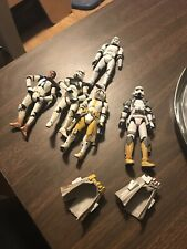 Star Wars Clone Trooper Army Builder Lot of 5 Loose Action Figures Saga Legacy