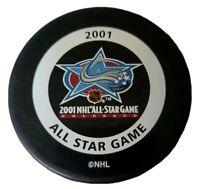 2001 ALL STAR GAME COLORADO NHL INGLASCO VINTAGE GARY B BETTMAN GAME PUCK