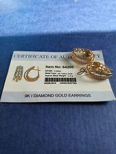 9ct Gold Diamond Earrings Gems TV