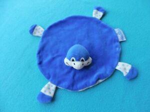 ♥Cuties Heunec Schmusetuch Kuscheltuch ♥ Schildkröte Schnuffeltuch ♥ blau