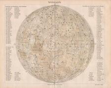 Antique map. MOON MAP. c 1895