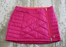 SMARTWOOL Womens CORBET 120 Zip Front Quilted Skirt Purple Run Outdoor Ski Small