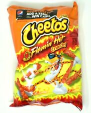 Cheetos Flamin' Hot Crunchy Cheese Flaming Spicy Flavored Snacks 8.5 oz One Bag