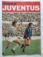 HURRA' JUVENTUS N. 4 APRILE 1975 + POSTER GIUSEPPE DAMIANI AMBURGO COPPA UEFA