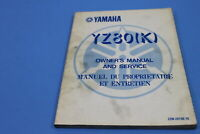 OEM YAMAHA YZ80(K) 1983 OWNERS/SERVICE MANUAL IN FRENCH PT # 22W-28199-70