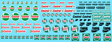 Decals CASTROL RACING Decalcomanie 1/43 1/32 1/24 Car Water slide gasoline decal