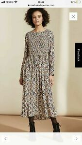 BNWT Marks & Spencer X GHOST Floral Ditsy Midaxi Dress Size 14  Gorgeous!