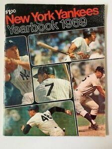 New York Yankees Yearbook 1969 Program Pre-Owned