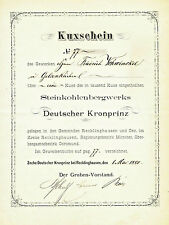 Gew Deutscher Kronprinz Oer - Erkenschwick Kux 1880 Recklinghausen Ewald Bergbau