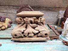 French Antique Wooden Carved Church Pedestal 1700s r47 Free Shipping