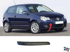 NEW VW POLO 2005 - 2009 FRONT BUMPER MOLDING PLASTIC BLACK PAINTABLE RIGHT O/S