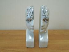 Phrenology Head Decorative Ceramic Bookends