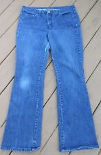 St. John's Bay Womens Boot Cut Blue Jeans Size 12 Average Cotton Blend 35x30