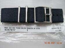 TUDOR Woven Fabric Strap, Bleu Marin (Denim Blue) 22mm, New