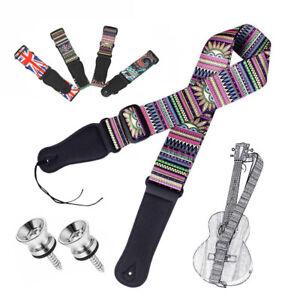 Adjustable Bass Ukulele Banjo Guitar Strap Belt with Pins/Buttons Kit 98-160cm
