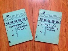 "Vintage Christian Pamphlet/Hymn Book Cheerio's Favorite Hymns ""In the Begin God"""