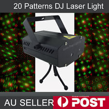 Mini Disco Stage Laser Light DJ Effect Club Green Red LED Projector 20 Patterns
