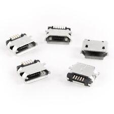 5 Pcs Micro USB Type B Female Socket 180 Degree 5-Pin SMD Jack SH