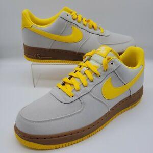 Nike Air Force 1 Low '07 TXT 👟🔥 Textile Bone Yellow AJ7282-002 Men's 11.5 NEW