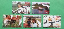 Nederland NVPH 1952 t/m 1956 Hart voor de natuur dieren 2001 gestempeld