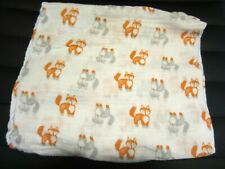 New ListingAden + Anais Muslin Cotton Baby Swaddle Receiving Crib Security Blanket Foxes