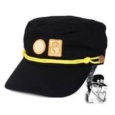 Jojo's Bizarre Adventure Hat Jotaro Kujou Black Military Cap