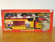 Majorette Vintage Die Cast F1 Transport Set - Semi Truck & 4 Formula Cars in Box
