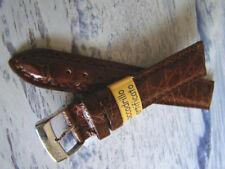 Cinturino in pelle COCCODRILLO, ansa 18 mm, MARRONE , watch band strap