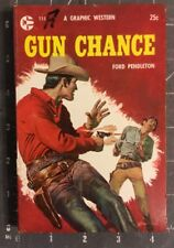 GUN CHANCE Vintage Western By  Ford Pendleton Graphic Western PBB 1957 1st.