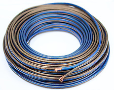 50 Ft 10 Gauge Speaker Wire Cable Car Home Audio AWG 50' Blue Black Wire