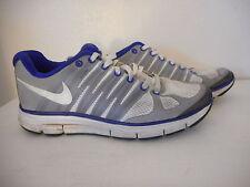 Preowned NIKE Lunar Elite 2 Flywire Lunarlon Blue White Sneaker Tennis Shoe Sz 8