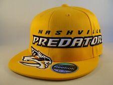 Nashville Predators NHL Reebok Flex Hat Cap Size S/M Gold