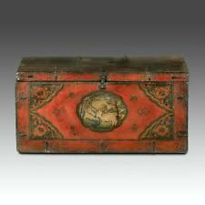 RARE ANTIQUE WOOD TRUNK ELEPHANT MONKEY TIBET CHINESE FURNITURE LATE 18TH C.