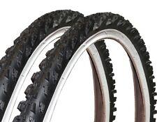 2x Black DINGO ruedas bici montaña Neumático de la bicicleta 26 PULGADAS 26x1.95